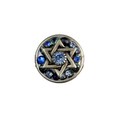 Silver And Blue Crystal Star Of David
