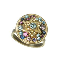 Purple-Blue Crystal Star Of David