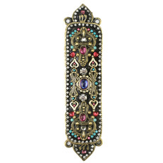 Michal Golan Crystal And Heart Mezuzah
