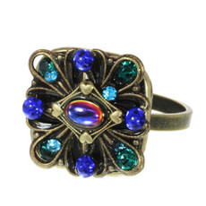 Michal Golan Jewelry Peacock Adjustable Ring