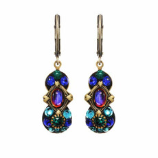 Peacock Earrings Made By Michal Golan Jewelry