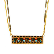 Michal Golan Jewelry Turquoise Ber Necklace