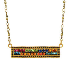 Michal Golan Multi Crystals Ber Necklace