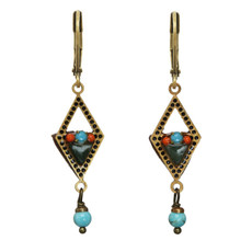 Michal Golan Diamond Shape Geometric Earrings