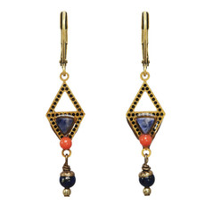 Michal Golan Blue Geometric Earrings