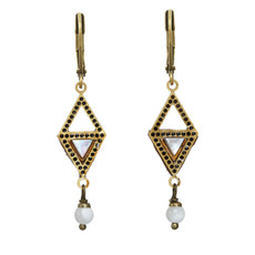 Michal Golan Mother Of Pearl Geometric Earrings