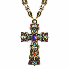Michal Golan Kalaeidoscope Cross Necklace