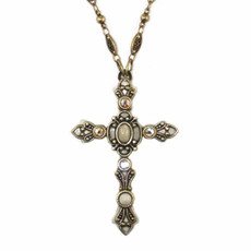 Large Ivory Cross Necklace