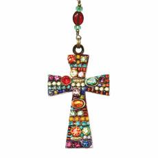 Large Multibright Cross Necklace