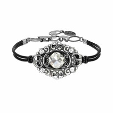 Michal Golan Diamond On Leather Bracelet