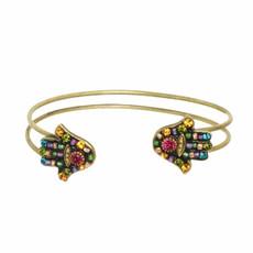 Black Multibright Hamsa Bracelet