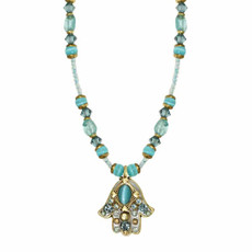 Blue Cat's Eye Hamsa By Golan Jewelry