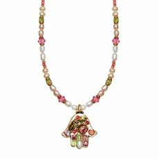 Floral Hamsa Necklace By Golan Jewelry