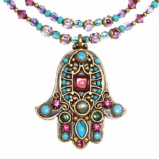 Large Turquoise Hamsa By Michal Golan