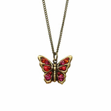 Red Michal Golan Jewelry Butterfly Necklace