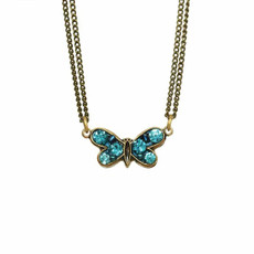 Blue Michal Golan Jewelry Butterfly Necklace