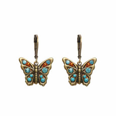 Blue Michal Golan Blue Butterfly Earrings