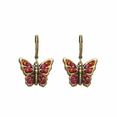 Michal Golan Red Butterfly Earrings