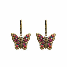 Michal Golan Pink Earrings Butterfly