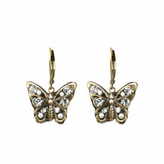 Michal Golan White Butterfly Earrings