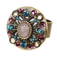 Michal Golan Adjustable Ring Rose