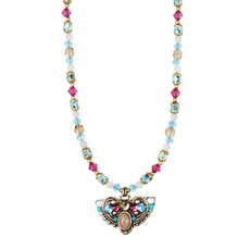 Michal Golan Jewelry Rose Necklace Pink