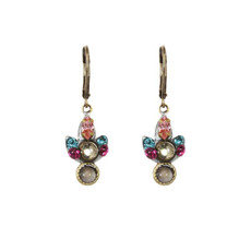 Michal Golan Pink Earrings Rose