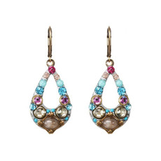 Michal Golan Pink Rose Earrings