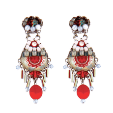 Ayala Bar Red Red Pomegranate Earrings
