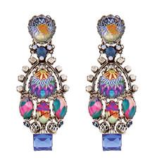 Purple Ayala Bar Jewelry Turkish Tile Earrings