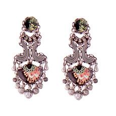 Ayala Bar Jewelry Evening Bouquet  Black Earrings