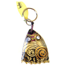 Ocean Swirly Fish Keyring By Orna Lalo