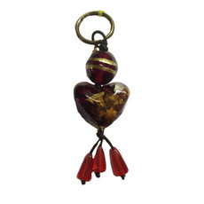 Orna Lalo Heart with Dangles Keyring