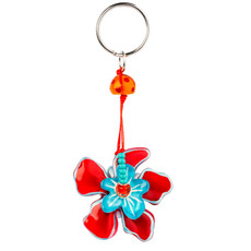Orna Lalo Red and Blue Flower Keyring