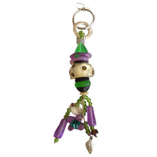 Orna Lalo Purple and Green Decorative Keyring