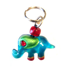 Blue Elephant Keyring From Lalo Orna Jewelry