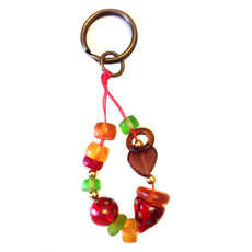 Orna Lalo Heart Chain Keyring