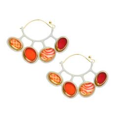 Orna Lalo Orange Circle Earrings