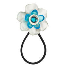 Orna Lalo Jewelry Blue and White Blossom Hair Accessory