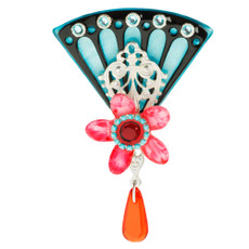 Orna Lalo Pink Flower Brooch