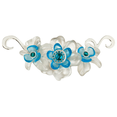 Orna Lalo Blue and White Blossom Brooch