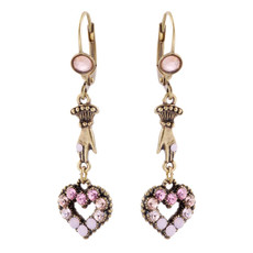 Michal Negrin Heart Earrings
