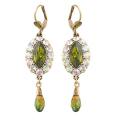 Michal Negrin Green Oval Earrings