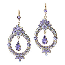 Michal Negrin Love in Lilac Earrings