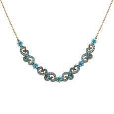 Blue Antique Rose Necklace by Negrin