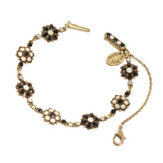 Negrin's Black & White Flower Bracelet