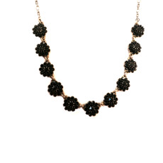 Negrin Classic Crystal Black Flower Necklace - One Left