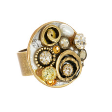Orange Michal Golan Jewelry Big Round Ring