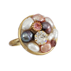 Michal Golan Jewelry Small Round Pink Ring