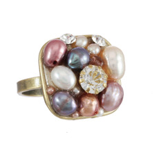Pink Michal Golan Jewelry Small Square Ring